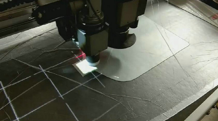 Projection Positioning Leather Cutting